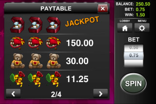 Gift Shop Classic Mobile Slot Paytable
