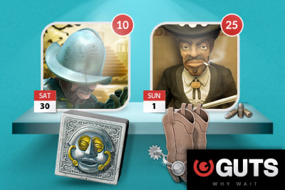 Guts Mobile Casino Free Spins Weekend