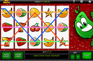 Hot Fruits Mobile Slot Paylines