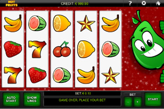 Hot Fruits Mobile Slot Screenshot
