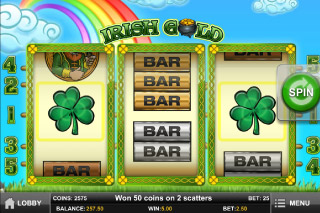 Irish Gold Mobile Slot Scatters