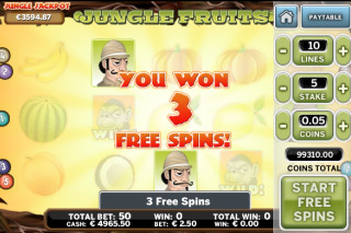 Jungle Fruits Mobile Slot Free Spins