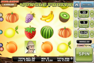 Jungle Fruits Mobile Slot Screenshot