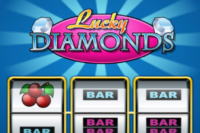 Lucky Diamonds Mobile Slot Logo