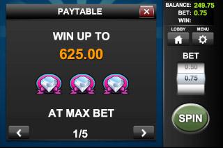 Lucky Diamonds Mobile Slot Max Bet Win