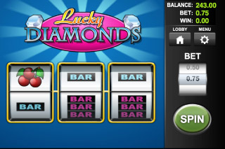 Lucky Diamonds Mobile Slot Screenshot