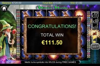 Merlins Millions Mobile Slot Bonus Win