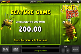 Money Bee Mobile Slot Feature Win