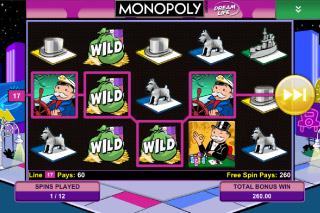 Monopoly Mobile Slot Free Spins Screenshot