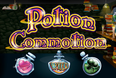 Potion Commotion Mobile Slot Logo