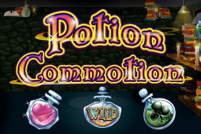 Potion Commotion Mobile Slot Logo