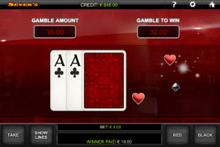 Seven's Mobile Slot Gamble Feature
