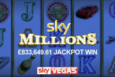Sky Millions Mobile Slot Jackpot Win at Sky Vegas Mobile Casino