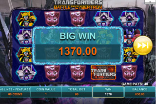 Transformers Mobile Slot Big Win