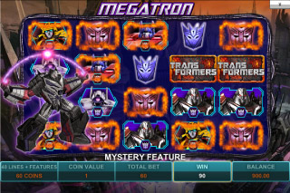Transformers Mobile Slot Megatron Bonus