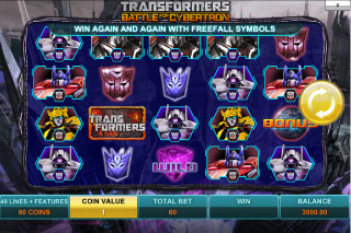 Transformers Mobile Slot Screenshot
