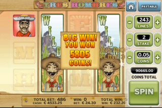 Tres Hombres Mobile Slot Big Win