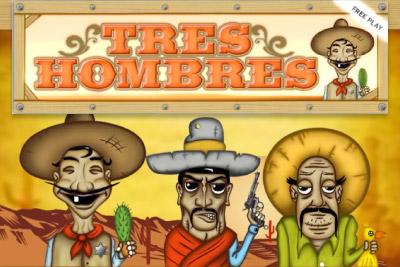 Tres Hombres Mobile Slot Logo
