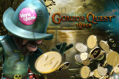Erik wins 81,000 on Gonzo's Quest at Vera&John on his mobile