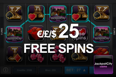 Get £/$/€25 worth of Free Spins at JackpotCity Mobile Casino