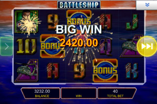 Battleship Mobile Slot Big Win