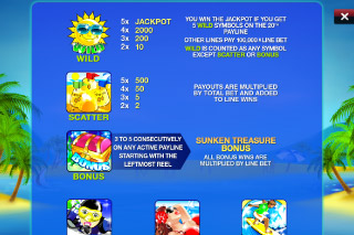 Beach Life Mobile Slot Paytable