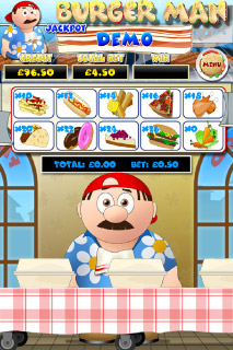 Burger Man Mobile Slot Bonus Game