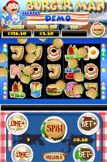 Burger Man Mobile Slot Screenshot