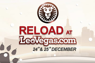 Get 24% - 25% Back this Christmas at Leo Vegas Mobile Casino