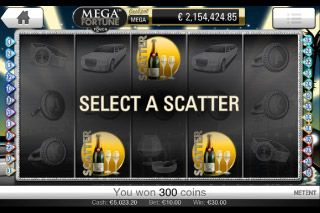 Mega Fortune Touch Mobile Slot Scatters