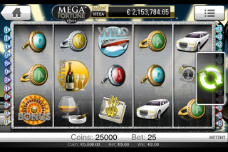 Mega Fortune Touch Mobile Slot Screenshot