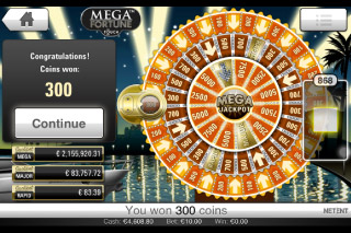 Mega Fortune Mobile Slot Wheel of Fortune