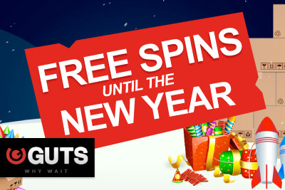 Get Free Spins Every Day until the New Year at Guts Casino