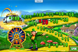 Rainbow Riches Wheel of Fortune Bonus