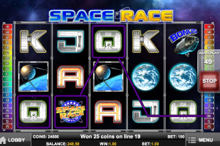 Space Race Mobile Slot Screenshot