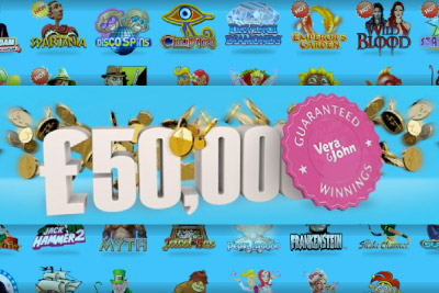 You can get up to 5,000 a day at Vera&John Casino this December