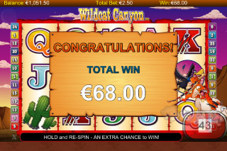 Wildcat Canyon Mobile Slot Big Win