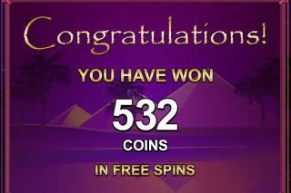 Isis Mobile Slot Free Spins Win