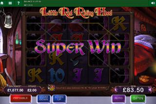 Little Red Riding Hood Mobile Slot Super Win