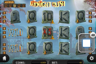 Midnight Rush Mobile Slot Screenshot