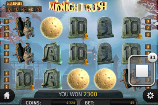 Midnight Ruch Mobile Slot Win