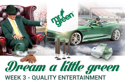 Win Quality Entertainment Prizes at Mr Green Mobile Casino