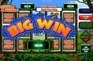 Rumble in the Jungle Mobile Slot Big Win