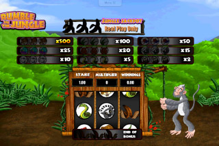 Rumble in the Jungle Mobile Slot Monkey Bonus
