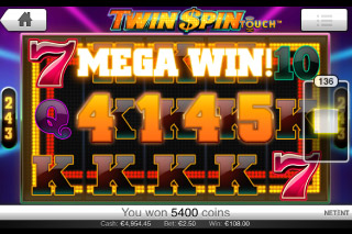 Twin Spin Touch Mobile Slot Mega Win