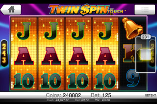 Twin Spin Touch Mobile Slot Reels