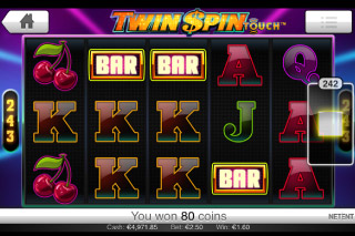 Twin Spin Touch Mobile Slot Screenshot