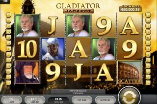 Gladiator Jackpot Mobile Slot Screenshot