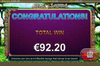 Unicorn Legend Mobile Slot Win