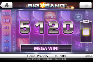 Big Bang Touch Mobile Slot Mega Win